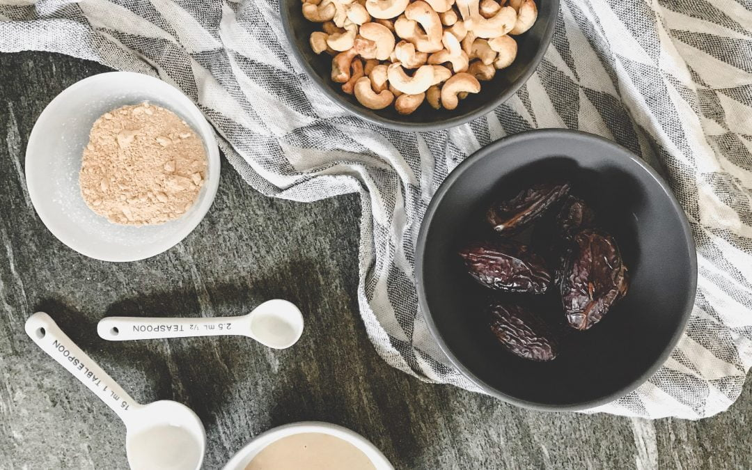 Salted Tahini Maca Fudge Recipe by Deliciously Ella