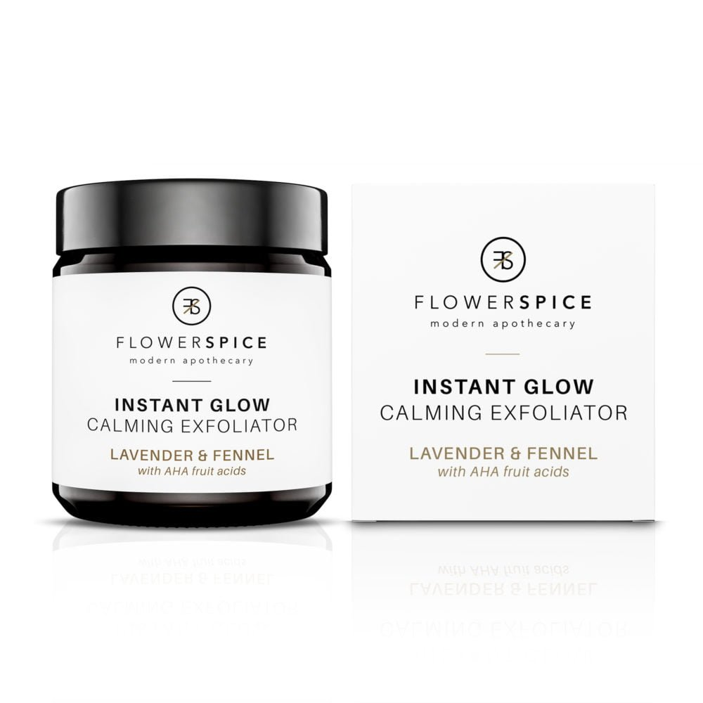 Flower and Spice Instant Glow Calming Exfoliator Lavender & Fennel